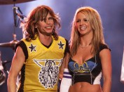 Britney Spears and Steven Tyler at the Half Time Show